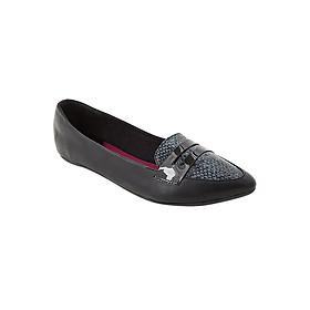 Giày Búp Bê Đế Bệt NICOLE BLACK SNAKE Butterfly Twists BT22-010-201 - Đen