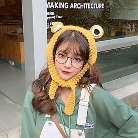 Mũ Nón Len Ếch Ộp 3D Siêu Kute Trend Thu Đông 2020