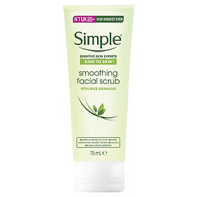 Simple Kind To Skin Facial Scrub Smoothing 75ml