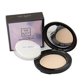 Phấn Phủ Trang Điểm Chống Nắng Cao Cấp The Rucy 3 In 1 Whitening Two Way Cake UV SPF 35++ (13g) Tặng Gương mini xinh xắn-0