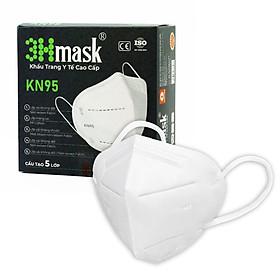 Khẩu Trang Kháng Khuẩn Cao Cấp KN95 3Hmask chống bụi mịn PM2.5, khói mù, bụi bẩn, vi khuẩn... tiêu chuẩn quốc tế (Hộp 10 cái)
