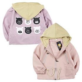 Áo khoác nón in gấu trúc hàng Quảng Châu cho bé gái 4-10 tuổi từ 18 đến 35 kg 01356-01357