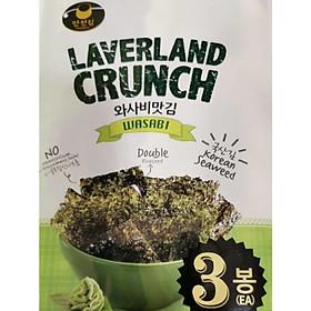 Rong Biển Laverland Crunch Vị Wasabi (4.5g x 3 gói)