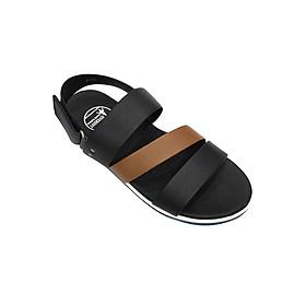 Giày Sandal 3 Quai Ngang Nam Everest - Eve01 C24 (Đen Phối Nâu Bò)
