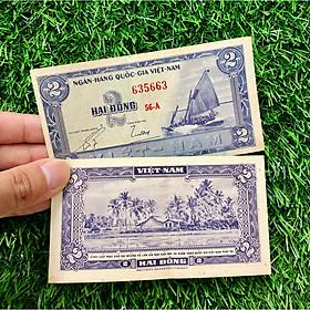 Tờ tiền thuận buồm xuôi gió Việt Nam 2 đồng xưa, phong thủy