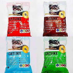 Cát Vệ Sinh Cát Đất Sét Cho Chó Mèo Cat Like 4 Mùi Hương Túi 8L
