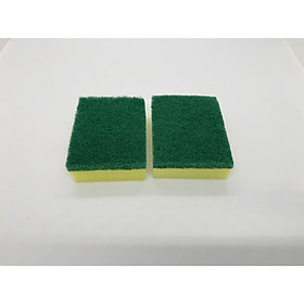 [COMBO 2 Miếng] Miếng cọ rửa chén bát xanh vàng tiện dụng