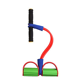 Ankle Puller Sit Up Mat Pull Rope Foot Pedal Exerciser Fitness Equipment-0