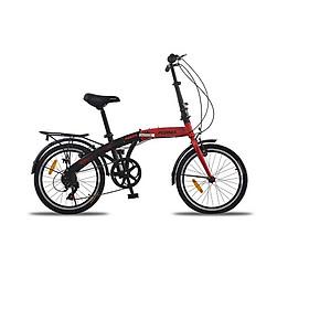 Xe đạp gấp, hiệu Fornix Prava, màu Đen đỏ