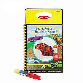 Sách tô màu bút nước thần kỳ size nhỏ Toys House tặng xe trượt đà cho bé VBC-123-6 (ngẫu nhiên)