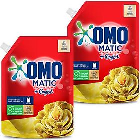 Combo 2 Túi Nước Giặt OMO Matic Comfort Hương Tinh dầu thơm 2.0kg