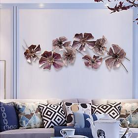 Phù điêu trang trí treo tường Hoa cổ điển màu tím mộng mơ