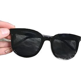 Kính Mát Thời Trang Nam Nữ Gọng Nhựa Màu Đen- Kính Mát Râm Chống Tia UV Mã KD-04