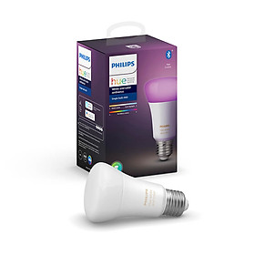 Bóng đèn thông minh RGB Philips Hue White and Color Ambiance E27 9W - Hàng chính hãng