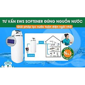 Máy lọc làm mềm nước sinh hoạt cho cả ngôi nhà EWS Softener tự động hoàn toàn loại bỏ độ cứng trong nước