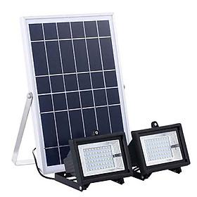 Đèn led năng lượng mặt trời công suất 36w - một tấm pin năng lương - 2 đèn led mỗi bên 36 led - cảm biến ánh sáng - có điều khiển từ xa bằng remote - lắp ngoài trời hoặc trong nhà