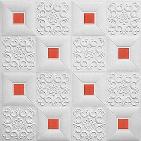 Combo 10 tấm xốp dán tường giả da đính decal sang trọng, chống ẩm mốc, cao cấp