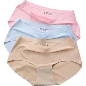 Combo 10 quần lót nữ su thông hơi không đường may, hàng đẹp loại xịn W19_153, nhiều màu, vải thun lạnh, thông hơi, co giãn đàn hồi tốt, thấm hút tốt, phù hợp mọi lứa tuổi, có màu da, màu trắng, màu đen, đồ lót nữ cao cấp
