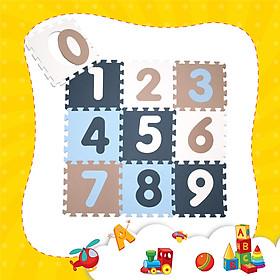 Thảm xốp lót sàn cho bé - chữ số pastel (10 miếng, diện tích 1m2) Smile Puzzle_KHÔNG MÙI TIÊU CHUẨN CHÂU ÂU