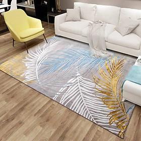 Thảm Trang Trí Phòng Khách Và Sofa Lông Ngắn BA012 - Blue Art (160 x 230 cm)