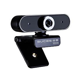 Webcam GUCEE HD98 12MP Lấy Nét Thủ Công Với Micro & Không Có Driver Cho Laptop / Máy Tính Bàn - Đen