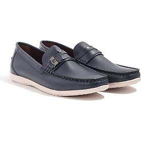 Giày Lười Nam Da bò Cao cấp, giày da bò Nam, giày slip on, giày loafer đế đúc cao su Banuli C5DL3T0