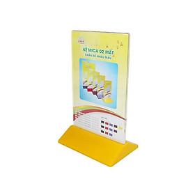 Kệ Mica 2 mặt đứng đế nhựa màu E18 (KT: 10 x 15cm)