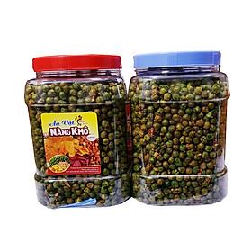 Hạt đậu hà lan rang tỏi ớt loại 1 (Giòn ngon - đậm vị) thương hiệu Nàng Khô - 1 Kí