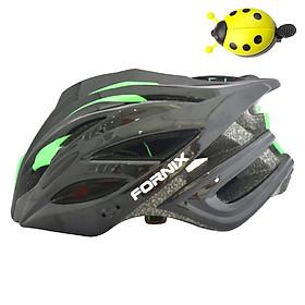 Combo Mũ Bảo Hiểm Xe Đạp Trẻ Em Fornix A02NX1S  + Chuông Xe Đạp Con Bọ - Hàng Chính Hãng