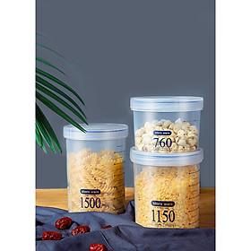 Hộp Đựng Thức Ăn Đa Năng Bằng Nhựa Loại Nắp Vặn Tròn Blackinner GR01 - Ba Dung Tích