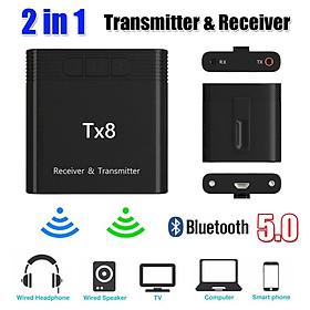 Bluetooth 5.0 Wireless 2 in 1 Transmitter Receiver Audio Adapter