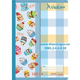 Vở kẻ ngang Wisdom - 120 trang; Klong 879 bìa xanh biển