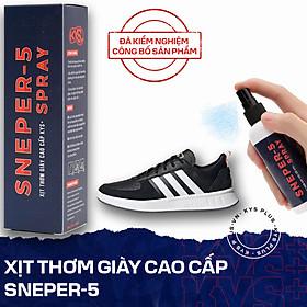 Xịt giày thơm hương nước hoa khử mùi hôi, khử khuẩn giày và chân Sneper-5 KYS Plus