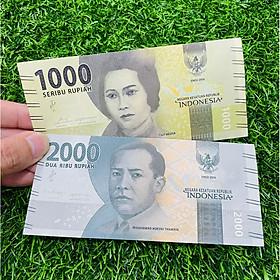 Cặp tiền Indonesia 1000 2000 Rupiah (2 tờ) vũ công múa, mới 100% UNC, KM bao lì xì - The Merrick Mint