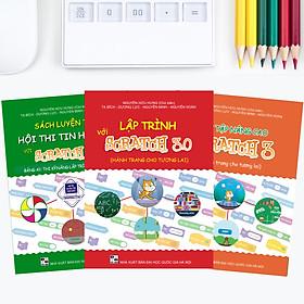 Combo Sách Lập Trình với Scratch 3, Sách Bài tập Nâng cao và Sách Luyện thi Tin học trẻ Bảng A1 - Tiểu học