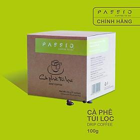 Cà phê túi lọc nguyên chất rang mộc - Passio Coffee (Hộp 10 gói x 10g)