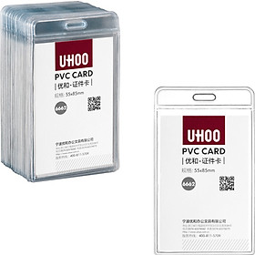 Excellent and excellent (UHOO) 6663 soft PVC display card sets of high transparent horizontal 48 / box card sets of work card staff card badges