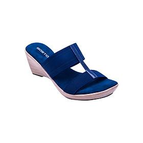 Guốc Da Thật 7 Phân Gosto Comfort R Sandal GDW013100DBL (Xanh Đen)