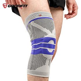 Băng bảo vệ đầu gối, bó gối thể thao silicon chống trượt GoodFit GF513K
