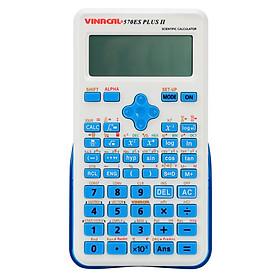 Máy Tính Học Sinh Vinacal 570ES Plus II - Xanh dương - Hàng Chính Hãng