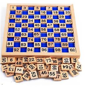 Bảng học đếm số  1 đến 100  Giáo cụ Montessori
