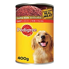 Đồ Ăn Cho Chó Lớn Pedigree vị bò Lon 400g