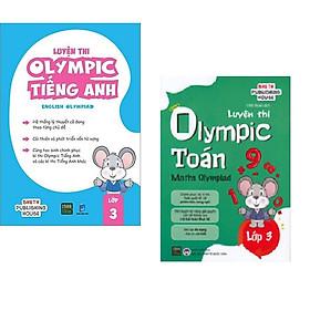 Combo 2 Cuốn Sách Luyện Thi Olymlic Toán - Anh Lớp 3