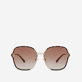 Mắt kính mát nam nữ Oval gọng kính nhựa UV400 trang trí viền Jaliver Young SM-6111
