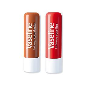Bộ 2 son dưỡng môi Vaseline dạng thỏi Lip Therapy Stick: Bơ Cao Cao và Hồng Xinh (4.8g x2)