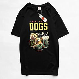 Áo Phông Cotton Hoạ Tiết ASTRO DOG Mã 1107 có bigsize vải thun chất