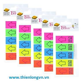 Set 5 tập Giấy note trình ký 5 màu nhựa  Sign Here 45668
