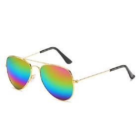 Kính râm tráng gương cho trẻ em, nhiều màu, chọn màu theo ý+ Tặng kèm hộp đựng kính-Mắt kính tráng gương, chống tia UV phong cách cho bé trai và bé gái