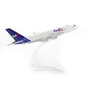 MÔ HÌNH MÁY BAY AIRBUS A380 FEDEX AIRLINE EVERFLY 16CM