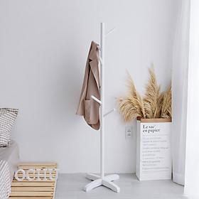 Cây Treo Quần Áo Đứng Bằng Gỗ OCHU - Standing Hanger - White/Black/Natural